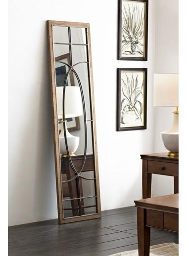 Warm Design Ahşap Ayna  Bej